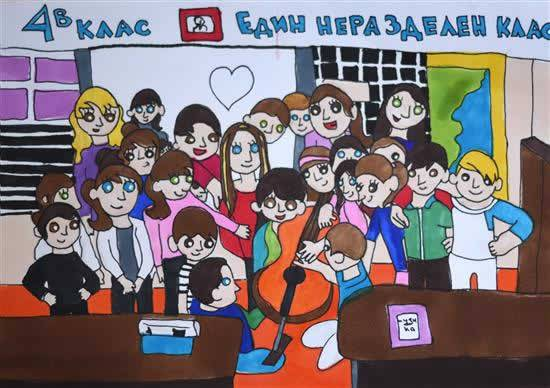 Painting  by Viara Pencheva - At School