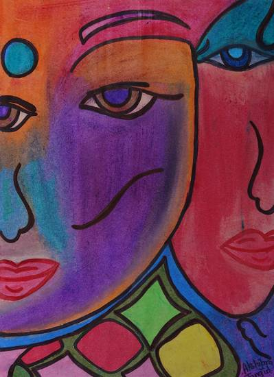 Painting  by Akshipra  - Abstract Face painting