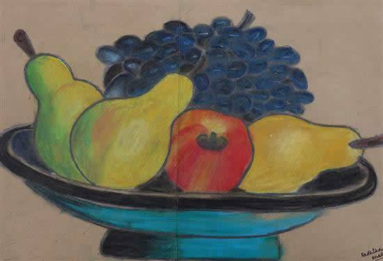 Painting  by Radhika Khatter - Fruits Plate