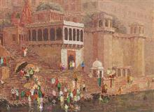 Banaras - 34, Painting by Yashwant Shirwadkar
