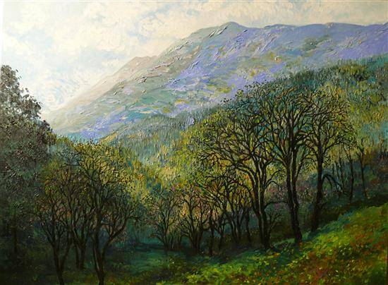 Valley View , painting by Chitra Vaidya