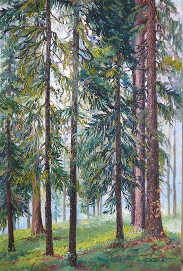 Forest View , painting by Chitra Vaidya