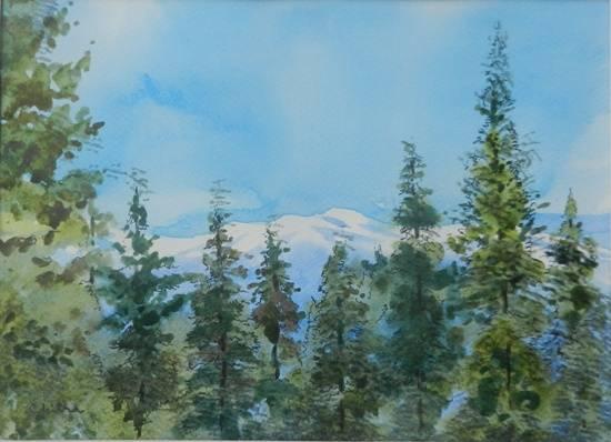 Kumaon Landscape - 5 , painting by Chitra Vaidya