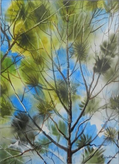 Kumaon Landscape - 1 , painting by Chitra Vaidya