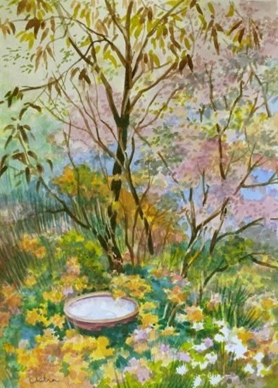 Kumaon Landscape - 3 , painting by Chitra Vaidya