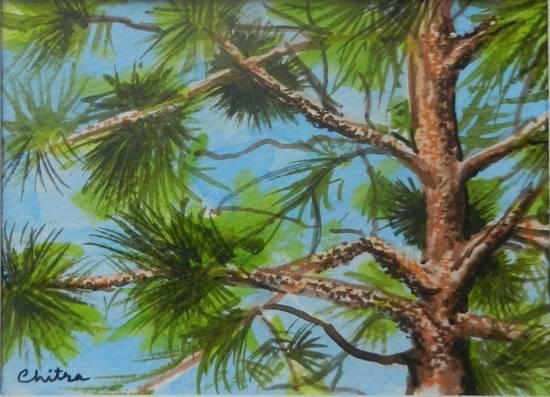 Kumaon Landscape - 11 , painting by Chitra Vaidya