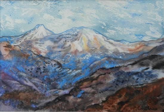 Kumaon Mountains - 6, painting by Chitra Vaidya