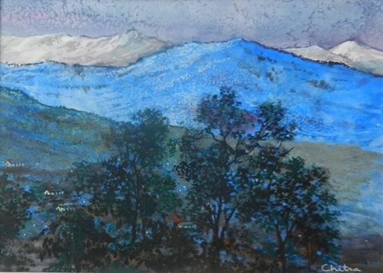 Kumaon Mountains - 5, painting by Chitra Vaidya