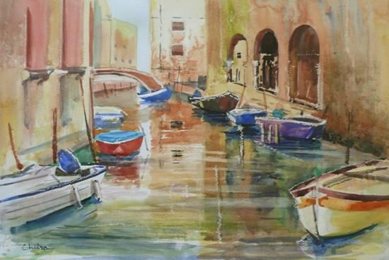 Venice - IX, Painting by Chitra Vaidya