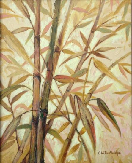 Bamboo Collection - 1, Painting by Professional Artist Chitra Vaidya