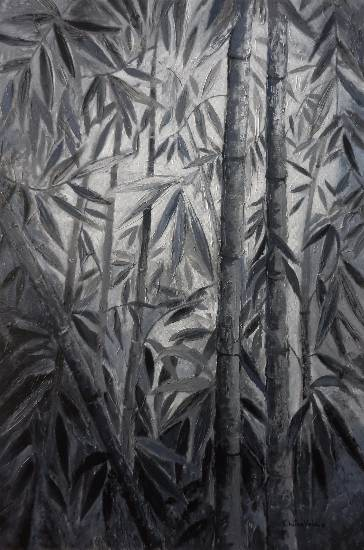 Bamboo Collection - 4, Painting by Professional Artist Chitra Vaidya