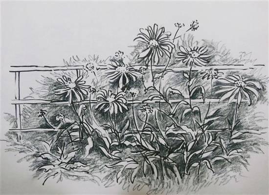 Flowers at Sojha, Himachal , painting by Chitra Vaidya