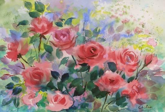 Roses , painting by Chitra Vaidya