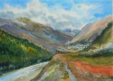 Print by Chitra Vaidya - Into the Mountains - 2