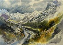 Painting by Chitra Vaidya - Into the Mountains - 3