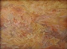 Rock Art at Bhimbetka - 2, Painting by Chitra Vaidya