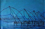Paintings by Chitra Vaidya - Chinese Fishing nets