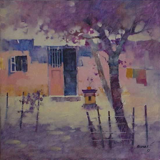 Tulsi Vrindavan, painting by Anwar Husain