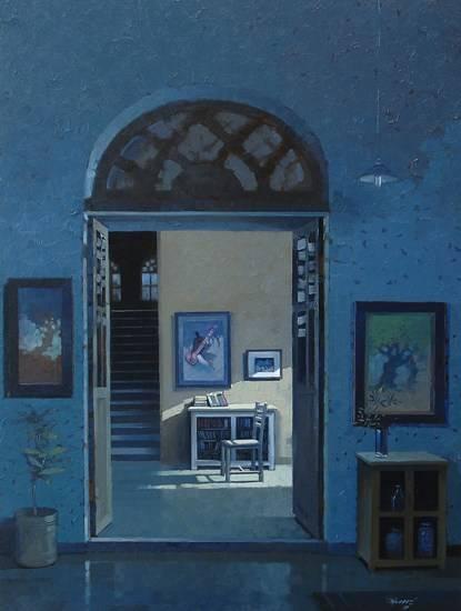 Whispering Silence II, painting by Anwar Husain