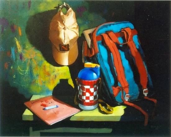 Still life V, painting by Anwar Husain