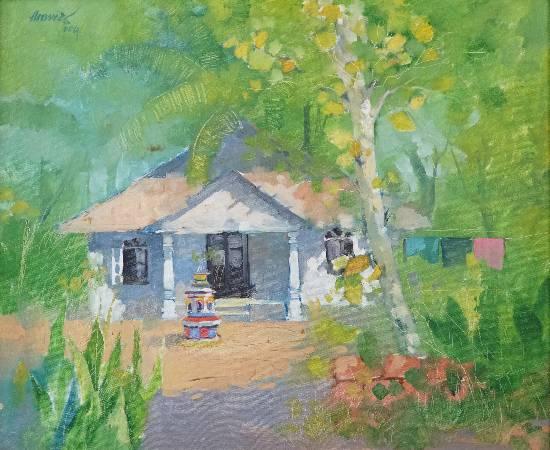 Green at Goa, painting by Anwar Husain