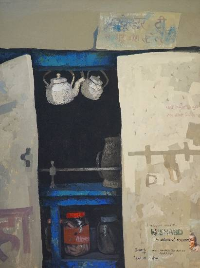 Tea Shop, painting by Anwar Husain