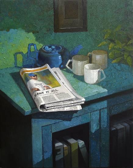 Good Morning, print by Anwar Husain