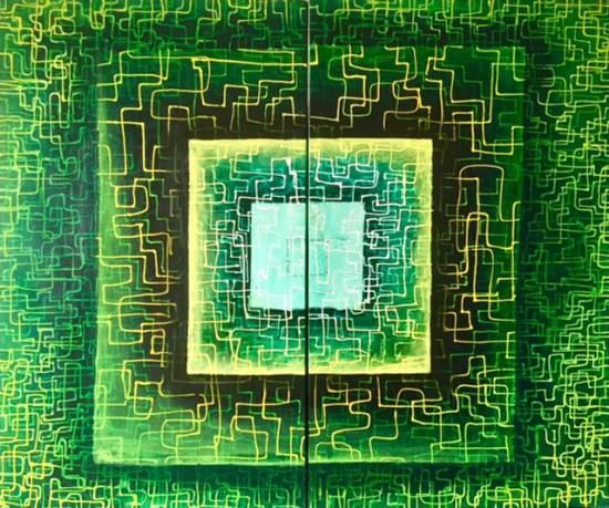 Fluence - 5, painting by Anuj Malhotra