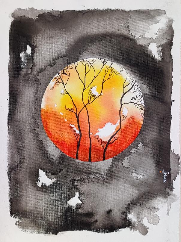 Horizons 44, painting by Anuj Malhotra