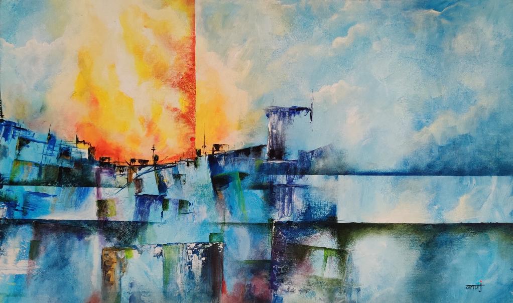 Horizons 58, painting by Anuj Malhotra
