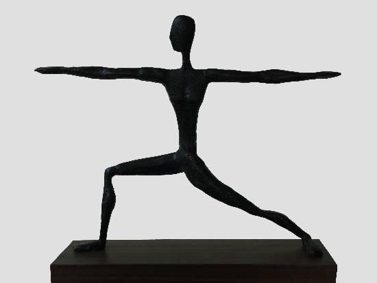 Virabhadrasana - 2, Sculpture by Bhushan Pathare