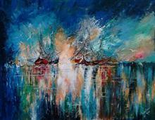 The Wonder Sea, painting by Arpita Basak