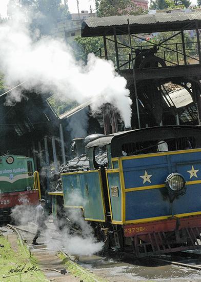 Steam locomotive at Coonoor