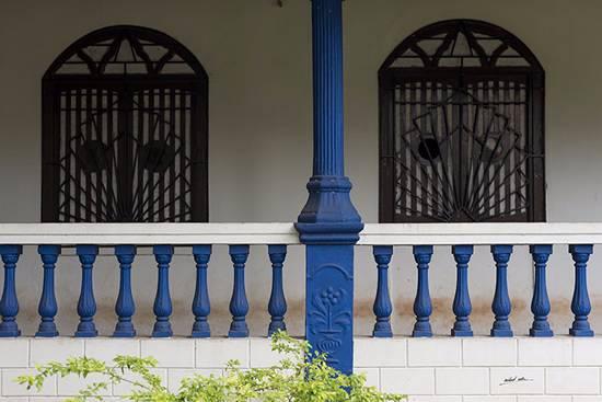 Blue at an old Goan house