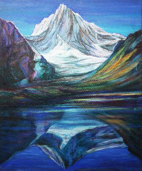 Himalayan Odyssey Paintings by Kishor Randiwe