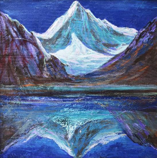 Himalaya collection - 17, painting by Kishor Randiwe