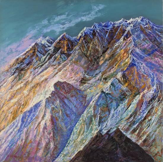 Himalaya - 1, print by Kishor Randiwe