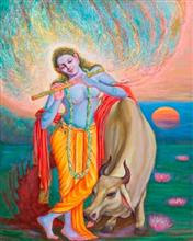 Krishna - In stock painting