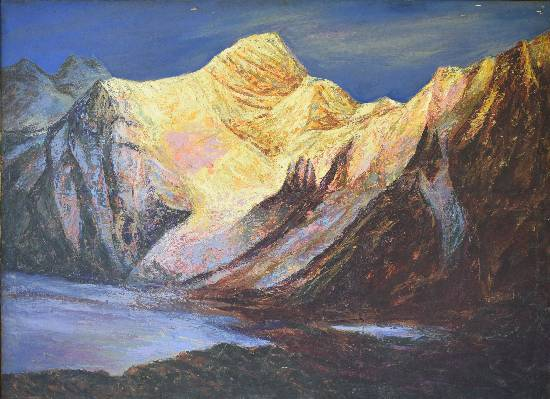 Himalaya collection - 13, painting by Kishor Ranadiwe