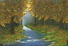 Spring in Woods, Painting by Sangita Patil