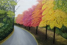 Garden Way, Painting by Sangita Patil