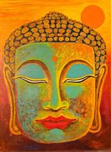 Painting by Jerome Morris - Buddha - 1