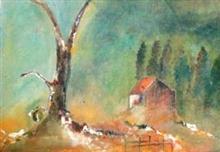 Shades of Green, painting by Gitanjali Bhawalkar