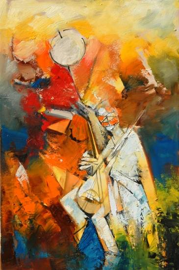 Abstract O33, painting by Bhalchandra Mandke