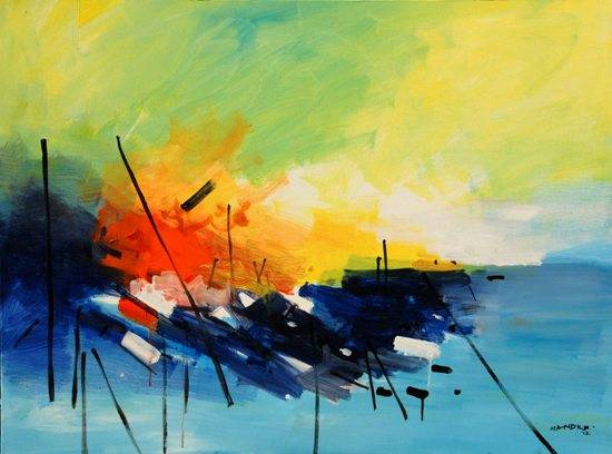 Abstract A191, painting by Bhalchandra Mandke