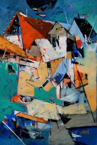 Abstract 201, painting by Bhalchandra Mandke