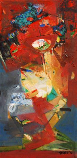 Abstract 213, painting by Bhalchandra Mandke