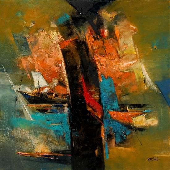 Abstract 220, painting by Bhalchandra Mandke