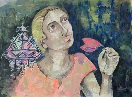 Mi Radhika, painting by Amita Goswami