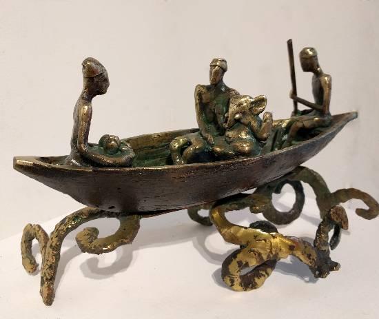 Ganesh Bisarjan, Sculpture by Dinesh Singh